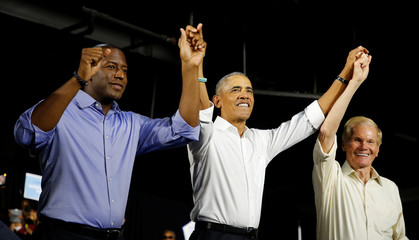 Obama campaigns for Democrats, U.S. Senator Bill Nelson and and Gubernatorial candidate Andrew Gillum in Miami