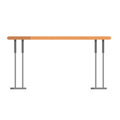 Vector of a modern table with wooden texture