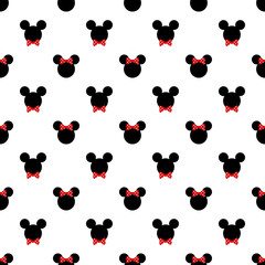 Seamless pattern with symbol of mickey  mouse