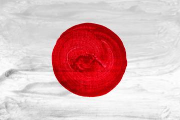 Japanese flag on white background