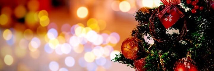 Composite image of christmas yellow circle lights