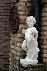 Nude boy plaster sculpture