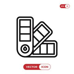 Pantone colors vector icon