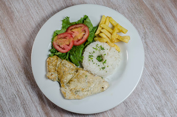 Chicken fillet with rice