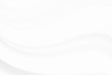 White silk or satin luxury cloth texture background. white wave background