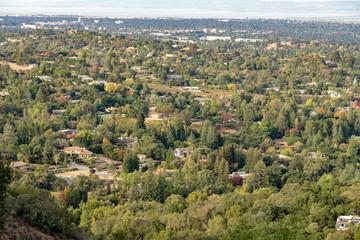View of city sprawl