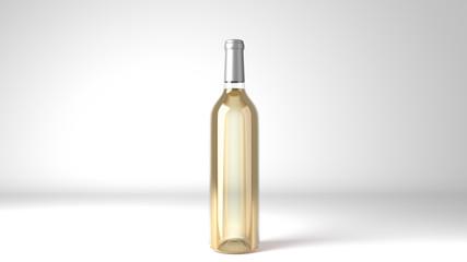 White Wine Bottle Label Mockup 3d Render