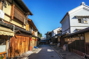 gion street in the morning