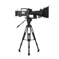 Video Camera on the Tripod Isolated