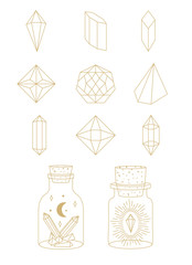 Geometric Shapes and Crystals in Vector