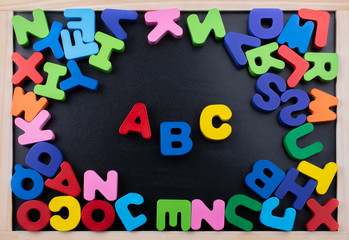 Colorful ABC  Letters made of wood