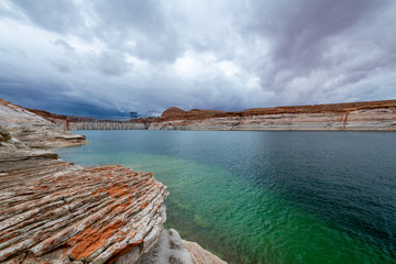 Wall Mural - Storm over Lake Powell