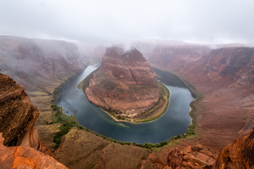 Wall Mural - Thunderstorm Rolling through Horseshoe Bend
