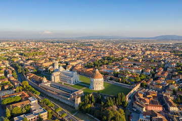 Leaning Tower of Pisa and Cathedral - Aerial View