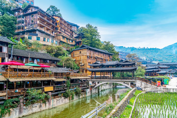 Miao village in Guizhou, China