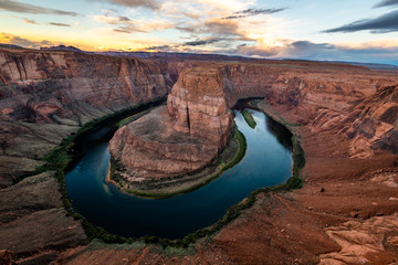 Wall Mural - Sunset over Horseshoe Bend
