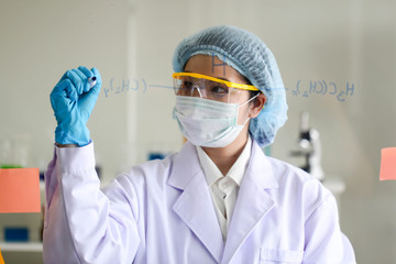Set of Chemical tube development and pharmacy in laboratory,biochemistry and research technology concept.