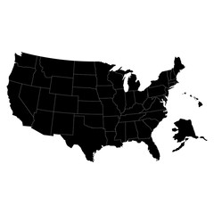 States of America territory on white background. Separate state. Vector illustration