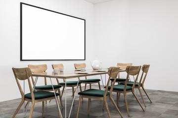 White dining room corner, poster