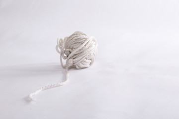 Tangle of white rope