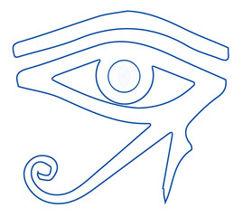 The Eye of Ra Outline Drawing