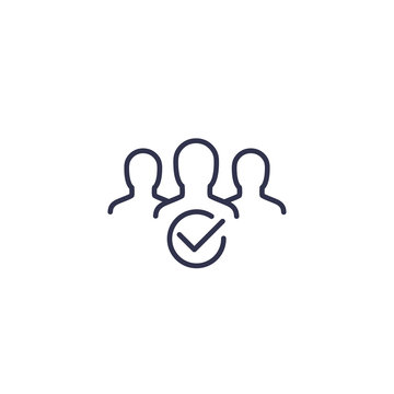 membership line icon on white