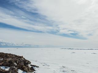Frozen sea coast
