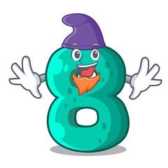 Elf raster version cartoon shaped Number Eight