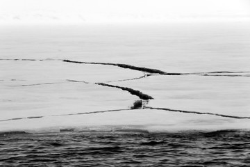 Cracks in Ice. Svalbard, Norway