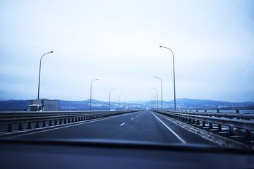 low bridge de frieze in Vladivostok across the Amur Bay