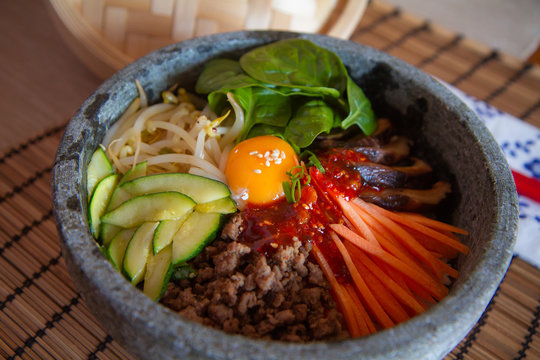 Bibimbap Korean mixed vegetable rice bowl