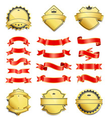 Gilded Shield Shapes and Silk Ribbons Variation