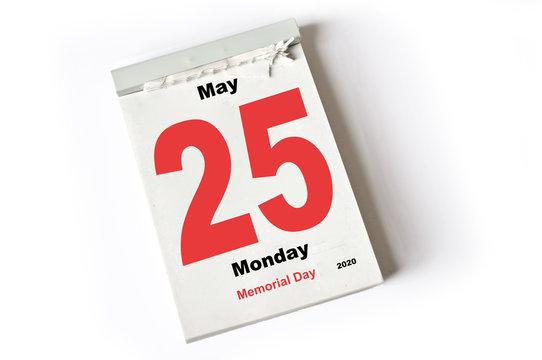 25. May 2020  Memorial Day