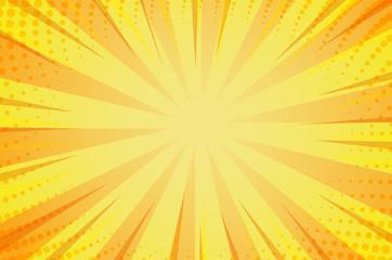 Sunlight background, cartoon style. Illustration Vector EPS10.
