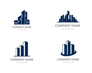 Building Logo Vector Icon Illustration Design