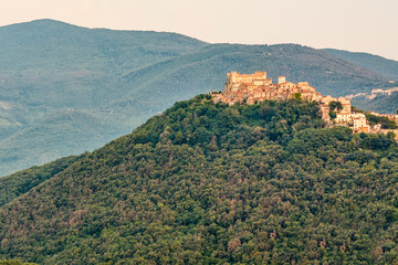 The Nerola City during the sunset - With Orsini Castle