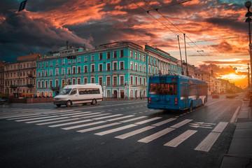Nevsky prospekt - the main street of St. Petersburg