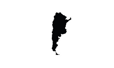 Argentina outline map national borders country shape state