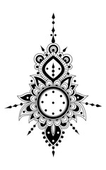 floral hendi ornament