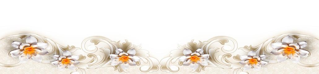 Panoramik Beyaz Çiçek
