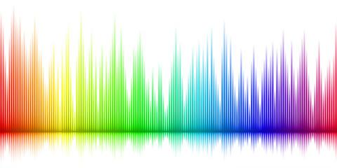 Color sound wave background illustration