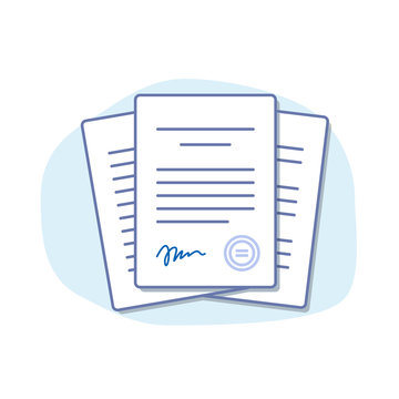 Office documents isolated. Financial papers. Stack of paperwork. Important papers. Business writing blank. Documentation vector.