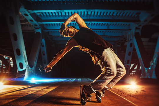 Young man break dancer
