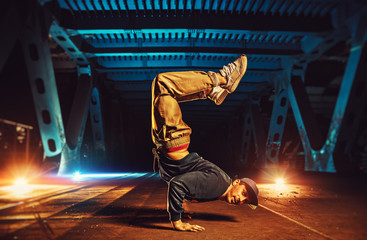 Young man break dancer
