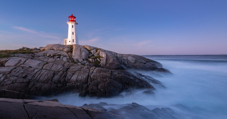 Peggy Cove Lighthouse after sunrise Wall mural