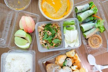 Thailand cuisine in vegetarian festival