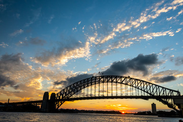 Harbour Bridge Sydney at Sunset