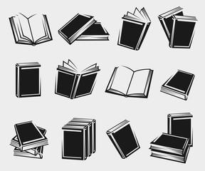 Books set. Vector