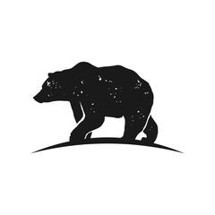 Rustic bear silhouette