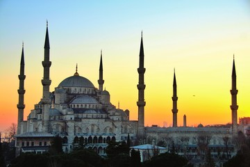 Sultan Ahmed Mosque, or the Blue Mosque in istanbul, Turkey
